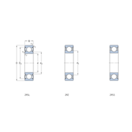 Гибридный радиальный шарикоподшипник с уплотнениями, смазанный на весь срок службы 6003-2RSLTN9/HC5C3WT