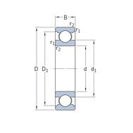 Гибридный радиальный шарикоподшипник 6014/HC5C3
