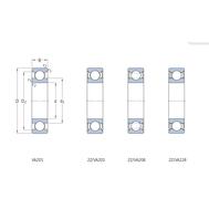 Однорядный радиальный шарикоподшипник для высоких температур 6011-2Z/VA208