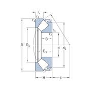 Упорный сферический роликоподшипник 292/1180 EF