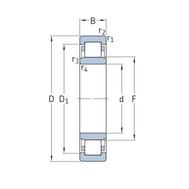 Цилиндрический роликоподшипник INSOCOAT NU 317 ECM/C3VL0241