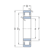 Цилиндрический роликоподшипник INSOCOAT NU 324 ECM/C3VL0241