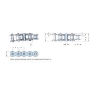 Цепь допускающая изгиб в поперечной плоскости стандарта BS/ISO PHC 12B-1SB