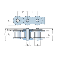 Цепь самосмазывающаяся SKF Xtra стандарта BS/ISO PHC 12B-2SLR