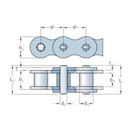 Цепь самосмазывающаяся SKF Xtra стандарта BS/ISO PHC 16B-2SLR
