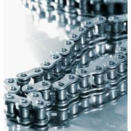 Цепь приводная роликовая никелированная стандарта BS/ISO PHC 04B-1NP