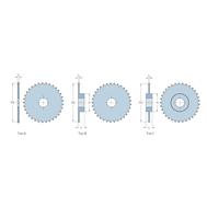 Звездочки 32B-1 для приводных цепей BS/ISO 32B-1 шаг 50,8 мм со ступицей PHS 32B-1B26