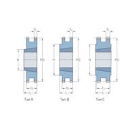 Звездочки 16B-2 с коническим отверстием шаг 25,4 мм со ступицей PHS 16B-1DSTBH12