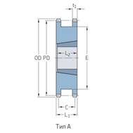 Звездочки 40-2 шаг 12,7 мм со ступицей PHS 40-1DSTBH19
