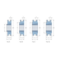 Звездочки 35-2 шаг 9,525 мм со ступицей PHS 35-2TB54