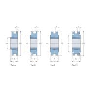Звездочки 60-2 шаг 19,05 мм со ступицей PHS 60-2TB42