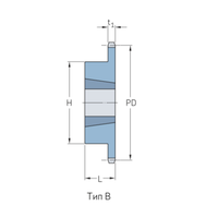 Звездочки 60-1 шаг 19,05 мм со ступицей PHS 60-1TB28