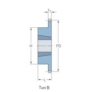 Звездочки 60-1 шаг 19,05 мм со ступицей PHS 60-1TB45