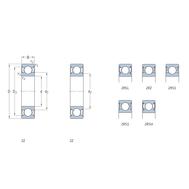 Однорядный радиальный шарикоподшипник с односторонним уплотнением 16002-Z