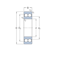 Двухрядный радиальный шарикоподшипник 4200 ATN9