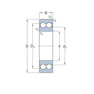 Двухрядный радиальный шарикоподшипник 4204 ATN9
