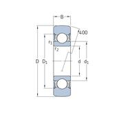 Однорядный подшипник - Опорный ролик 361205 R