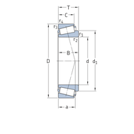 Конический роликоподшипник с дюймовыми размерами 14131/14276/Q