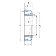 Конический роликоподшипник с метрическими размерами 30203 J2