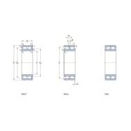 Двухрядный бессепараторный цилиндрический роликоподшипник с максимальным количеством роликов NNC 4832 CV