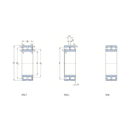 Двухрядный бессепараторный цилиндрический роликоподшипник с максимальным количеством роликов NNC 4836 CV