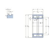 Двухрядный цилиндрический роликоподшипник с максимальным количеством роликов с уплотнениями 319438 DA-2LS
