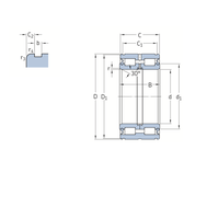 Двухрядный цилиндрический роликоподшипник с максимальным количеством роликов с уплотнениями 319428 DA-2LS