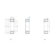 Однорядный бессепараторный цилиндрический роликоподшипник с максимальным количеством роликов NCF 18/1000 V