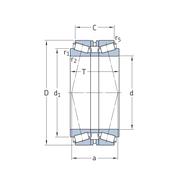 Однорядный конический роликоподшипник, спаренный по О-образной схеме 30217T71 J2/QDB