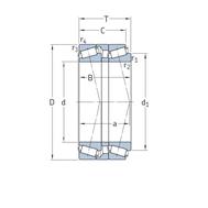 Однорядный конический роликоподшипник, спаренный по схеме - «тандем» T7FC 060T80/QCL7CDTC10