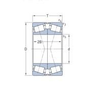 Однорядный конический роликоподшипник, спаренный по Х-образной схеме 30218 J2/DF