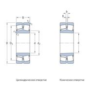 Сферический роликоподшипник для вибромашин, с  коническим отверстием 22318 EKJA/VA405