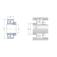 Сферический роликоподшипник на закрепительной втулке 21308 EK + H 308
